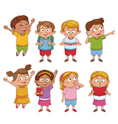 students kids cartoon vector image vector image
