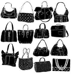 bags black vector image