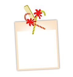 Blank Photos with Candy Canes vector image vector image