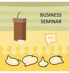 Business Seminar Concept vector image vector image