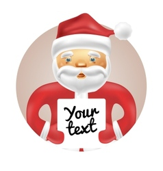 Santa with banner vector image vector image