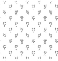 unique digital crane hook seamless pattern with vector image vector image