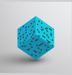 3d cube abstract background vector