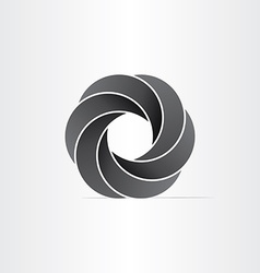 abstract black impossible symbol vector image
