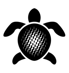 abstract turtle icon simple style vector image