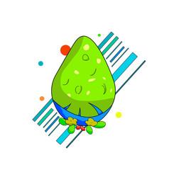 Alien easter egg vector