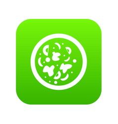 Asian hot dish icon digital green vector