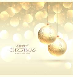Beautiful elegant merry christmas greeting card vector