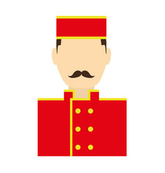 Bellboy man icon vector