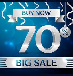 big sale buy now seventy percent for discount vector image