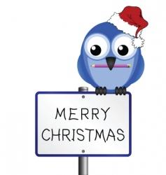 bird merry Christmas vector image