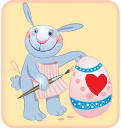 Bunny egg vector
