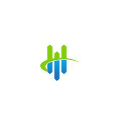 business graph economy progress logo vector image