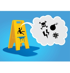 Caution - Wet Floor vector image