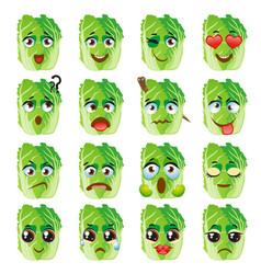 Chinese cabbage emoji emoticon expression funny vector