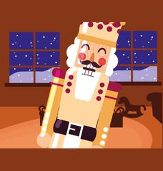 Christmas nutcracker design vector