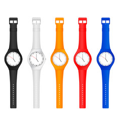 Color wristwatch vector