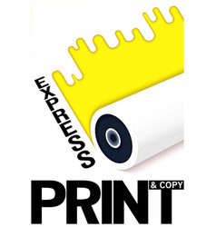 Conceptual poster design express print and copy vector