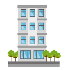 Cute building exterior icon vector