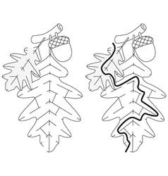 Easy leaf maze vector