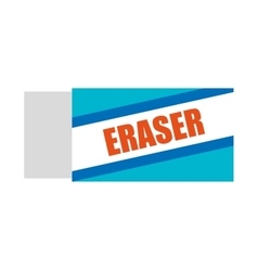 Eraser school supply icon vector