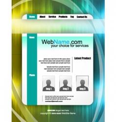 futuristic website template vector image