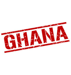 Ghana red square stamp vector