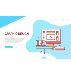 graphic design online web page modern technology vector image