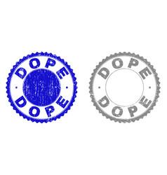 Grunge dope scratched stamp seals vector