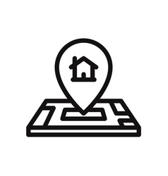 home location on map icon vector image