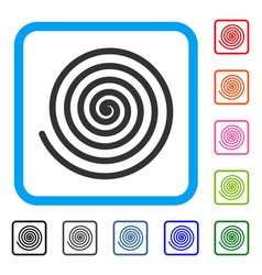 Hypnosis framed icon vector