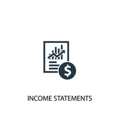 Income statements icon simple element vector