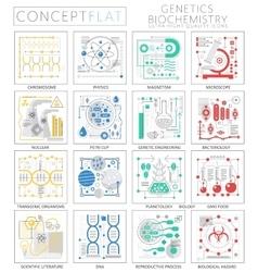 infographics mini concept genetics vector image