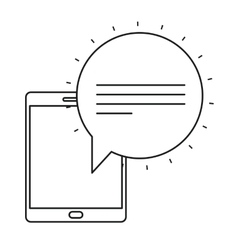 Isolated bubble and tablet design vector