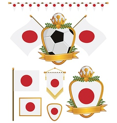 japan flags vector image