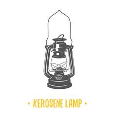 Kerosene lamp vector