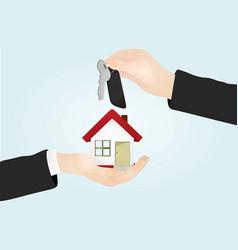 keys house sale concept vector image