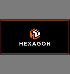 kf hexagon logo design inspiration vector image