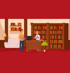 Library flat composition vector