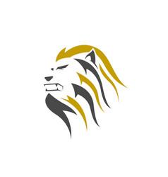 lion head line art logo icon vector image