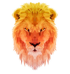 Lion polygon triangulate vector