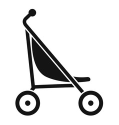 Little pram icon simple style vector