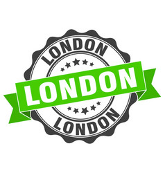 London round ribbon seal vector