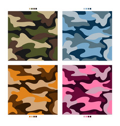 Military camouflage pattern design vector