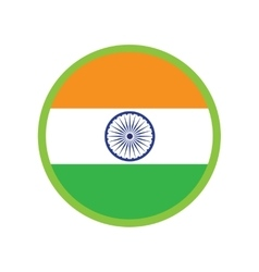 Modern flat icon on white background flag of India vector