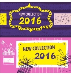 New collection 2016 Web Banner Header Layout vector