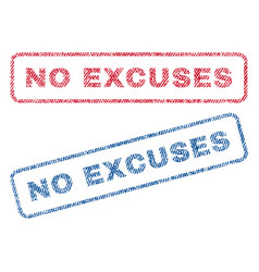 No excuses textile stamps vector