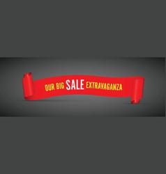 our big sale extravaganza vector image