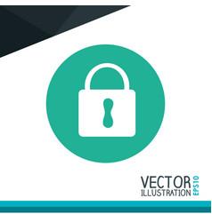Padlock icon desig vector