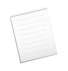 Paper white note vector image